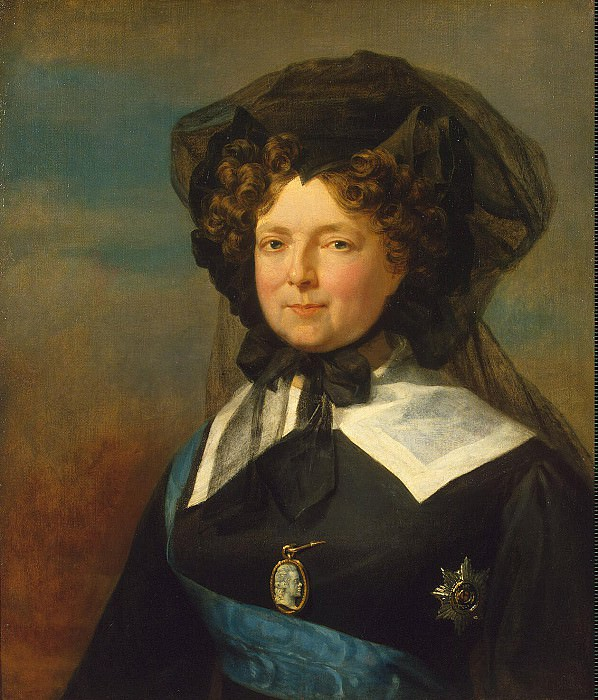 Dawe George - Portrait of Empress Maria Feodorovna in mourning. Hermitage ~ part 04