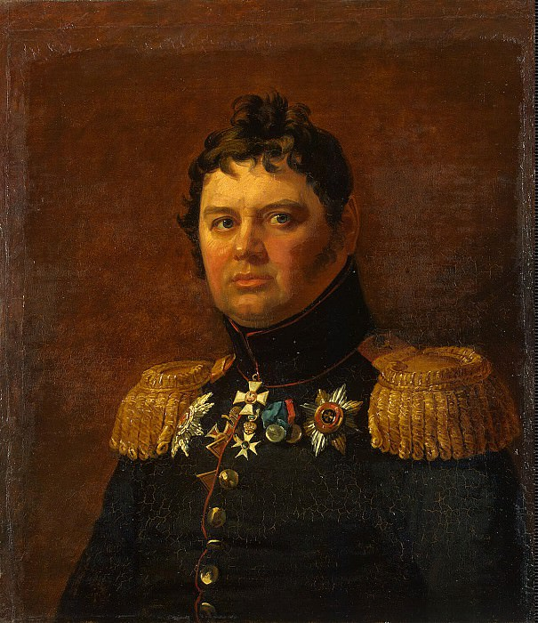 Dow, George - Portrait of Karl Fedorovich Lowenstern. Hermitage ~ part 04