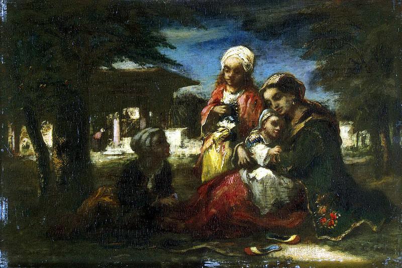 Diaz de la Pena, Narcisse Virgile - Turkish family. Hermitage ~ part 04