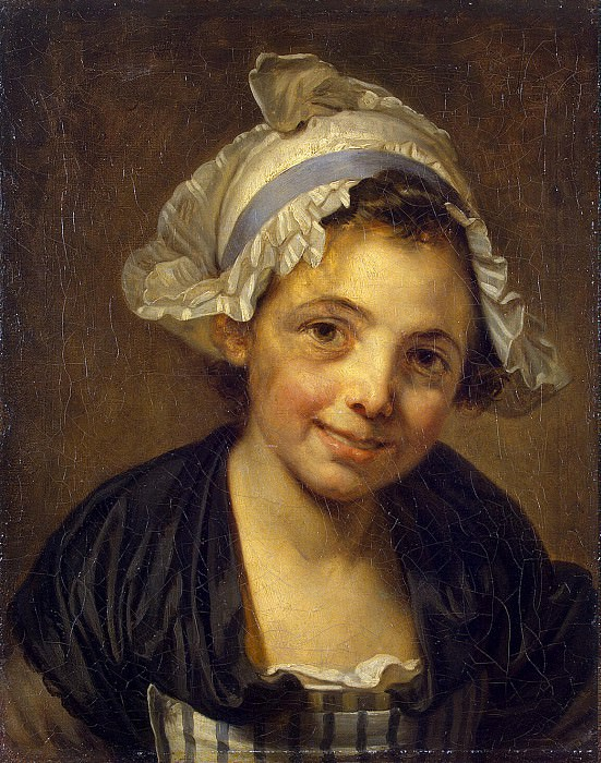 Greuze, Jean-Baptiste - Head of a girl in a cap. Hermitage ~ part 04