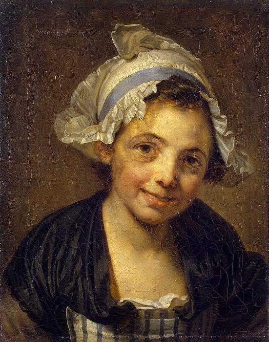 Грёз, Жан-Батист - Голова девушки в чепце. Эрмитаж ~ часть 4
