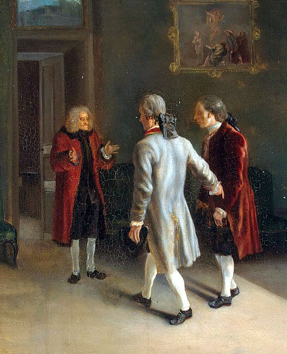 Гюбер, Жан - Вольтер, встречающий гостей. Эрмитаж ~ часть 4