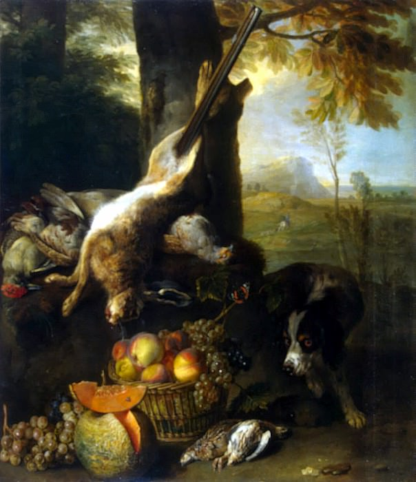 Deport, François - Still Life with a broken hare and fruit. Hermitage ~ part 04