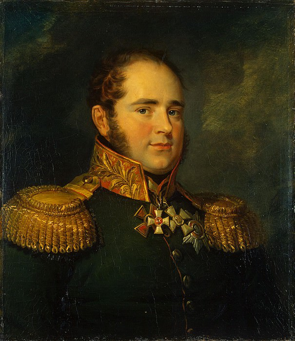 Dawe George - Portrait of Karl Fedorovich Baggovuta. Hermitage ~ part 04