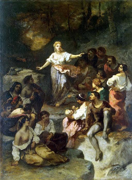 Диас де ла Пенья, Нарциссо Виргилио - Цыгане, слушающие предсказания молодой гадалки. Эрмитаж ~ часть 4