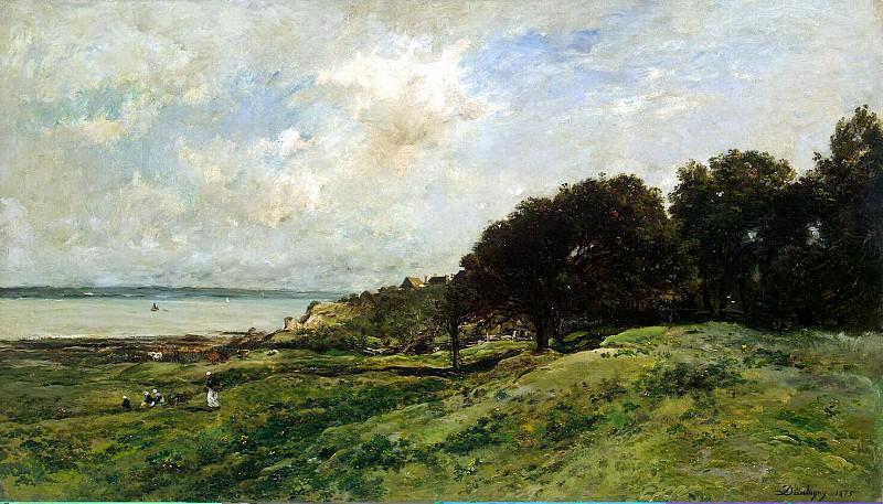 Dobin, Charles Francois - Seashore in Villervile. Hermitage ~ part 04