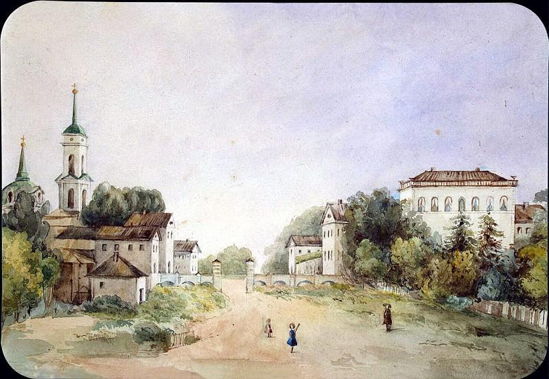 Golenishcheva-Kutuzov, SA - View of the estate in the New Selo, the estate of Count AI Riboper in Smolensk province. Hermitage ~ part 04