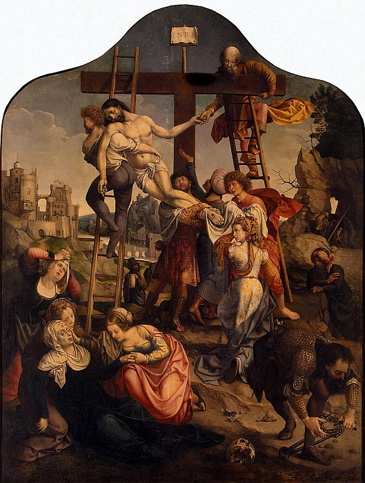 Gossaert, Jan - Descent from the Cross. Hermitage ~ part 04