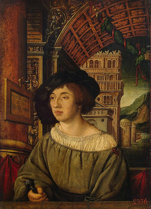Holbein, Ambrosius - Portrait of a young man. Hermitage ~ part 04