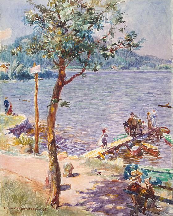 Meyksmoron Dombasle, Charles de - View of lake. Hermitage ~ part 04
