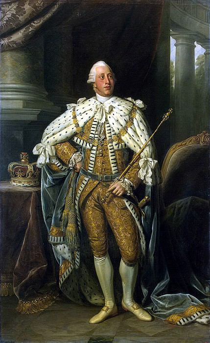 Dance, Nathaniel - Portrait of George III. Hermitage ~ part 04