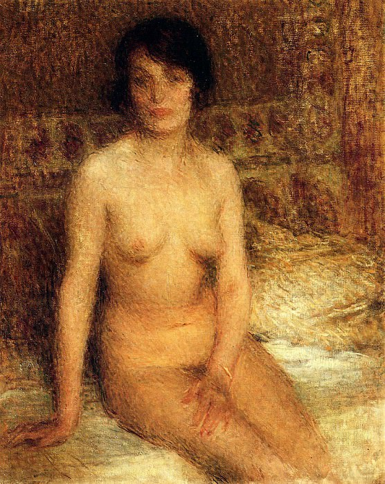 Laurent Ernest A Seated Nude. French artists