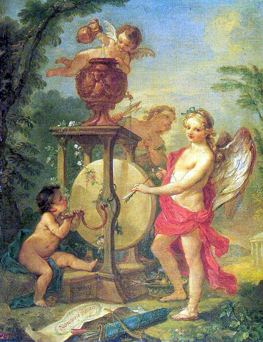 Narcisse Pierre Pyrrhus And Polites. French artists