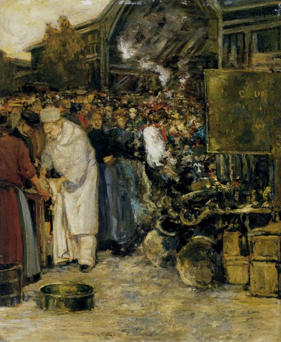 Hochard Gaston At The Marketplace. French artists