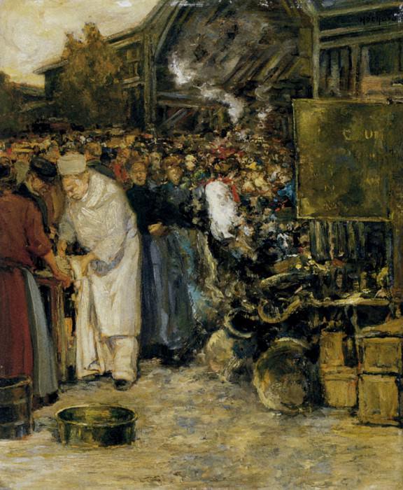 Ошар, Гастон - На рыночной площади. Французские художники