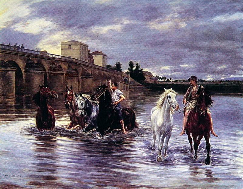 Crossing the River. French artists