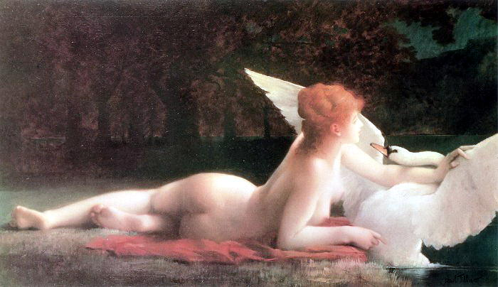 Leda and the Swan. French artists