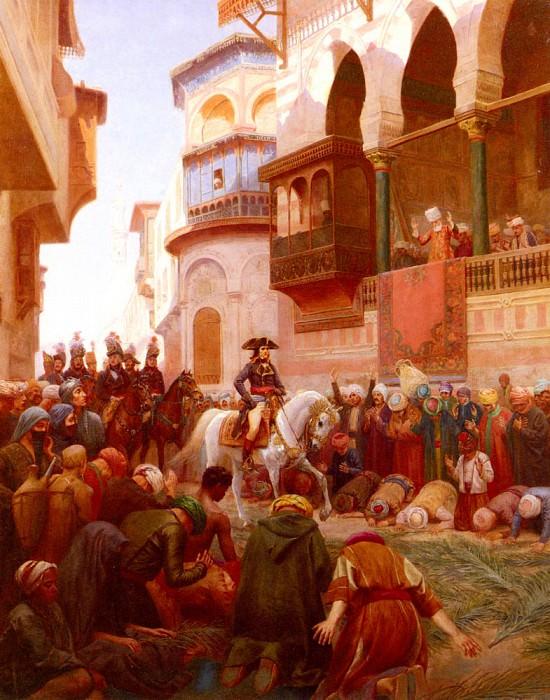 Бурген, Гюстав - Вход Наполеона в Каир. Французские художники