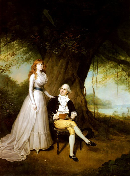 Devis Arthur William Portrait Of Robert Grant And His Wife Elizabeth. French artists