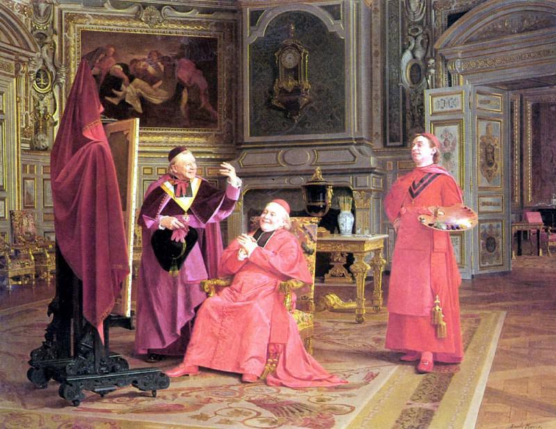 Эмиль Мейер - Снятие покрывала с картины. Французские художники
