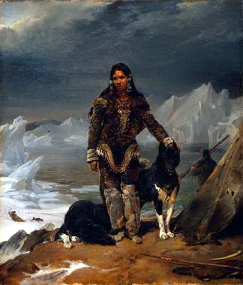 Cogniet Leon A Woman from the Land of Eskimos. French artists