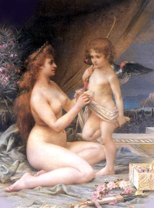 Danger Henri Camille Aphrodite and Eros 1917. French artists