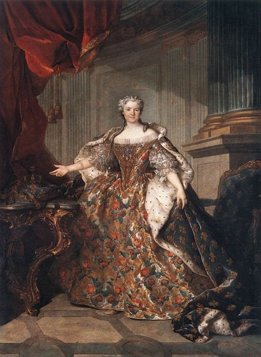 TOCQUE Louis - Marie Leczinska, Queen Of France. French artists