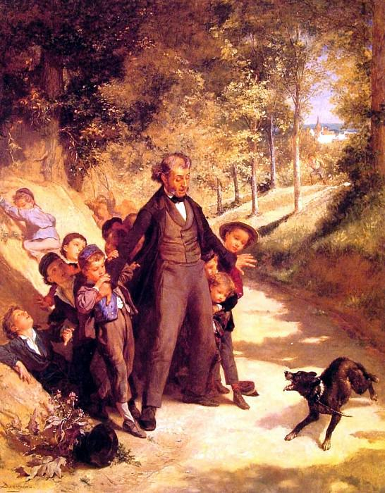 Priou Louis Maternite Champetre - protecting the schoolchildren. French artists