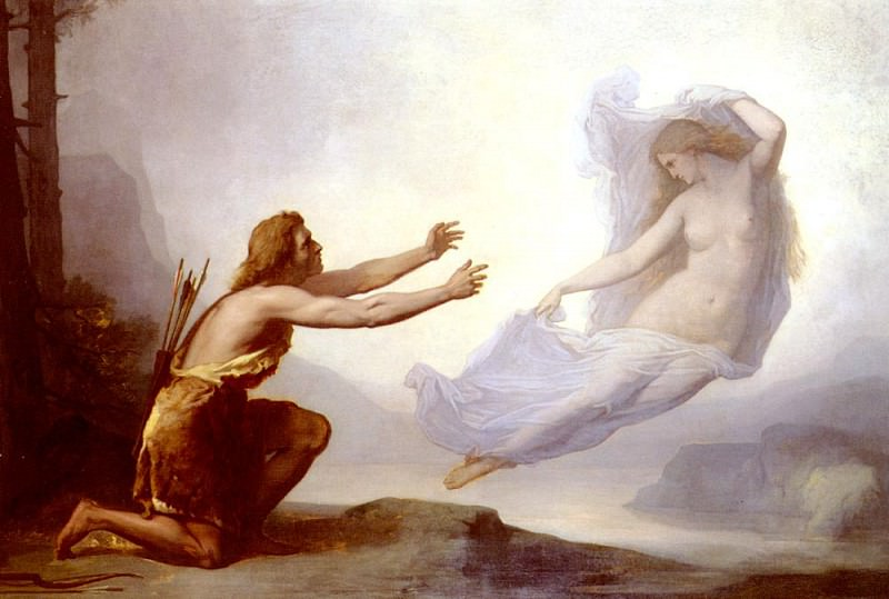 Tripet Alfred Apparition De Vinvela A Shilric Le Chasseur. French artists