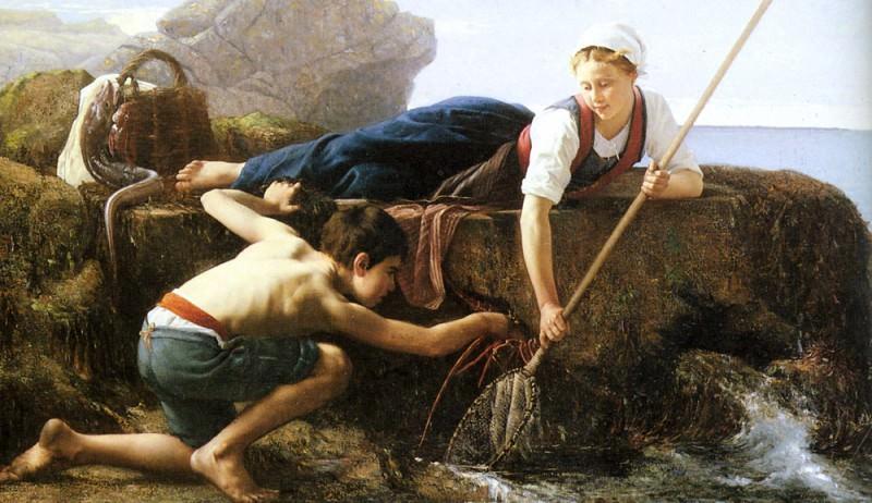 Гийу, Альфред - Ловцы креветок. Французские художники