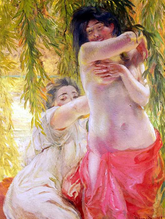 Besnard Paul Albert Sous Les Saules. French artists