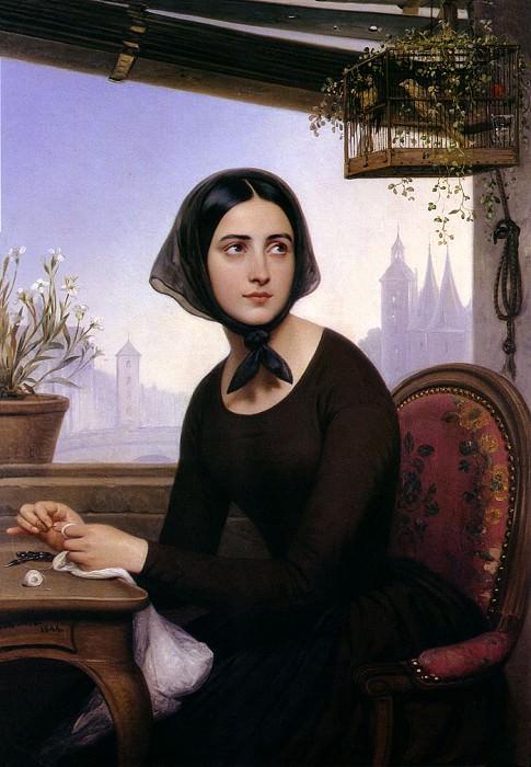 Жозеф Дезире Кур - В отсутствие Жермена Риголетто пытается сбить ее с толку, 1844. Французские художники