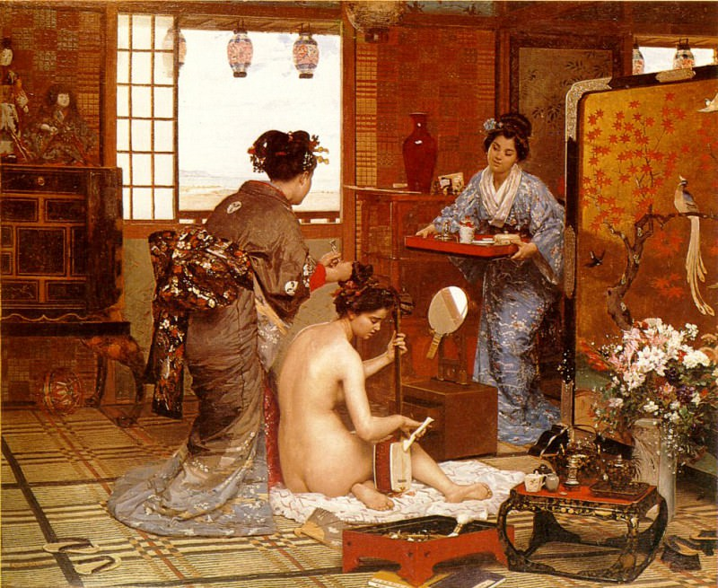 The Japanese Toilette 1873. French artists