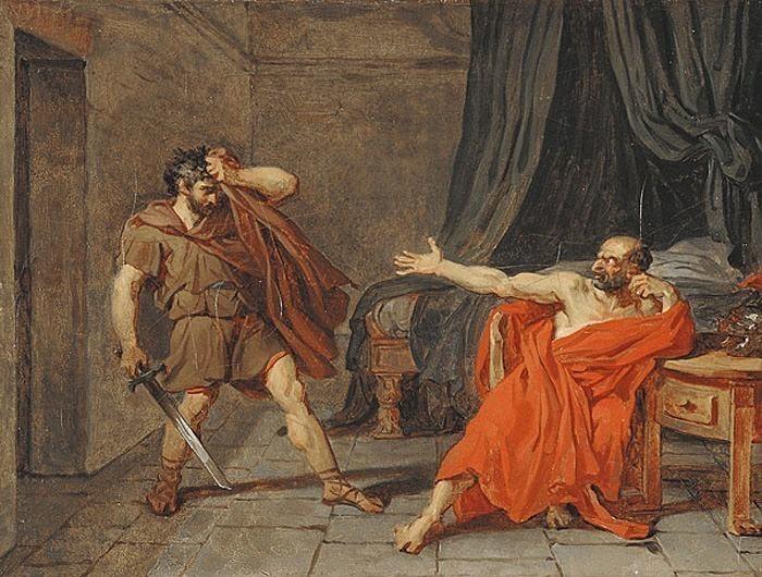 Drouais Jean Germain Etude a Marius Prisonnier a Minternes. French artists