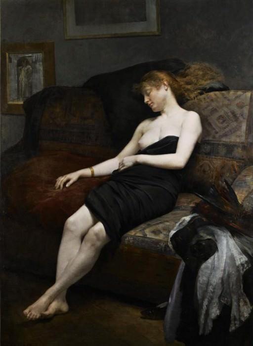 Руссен, Жорж - Спящая в студии. Французские художники