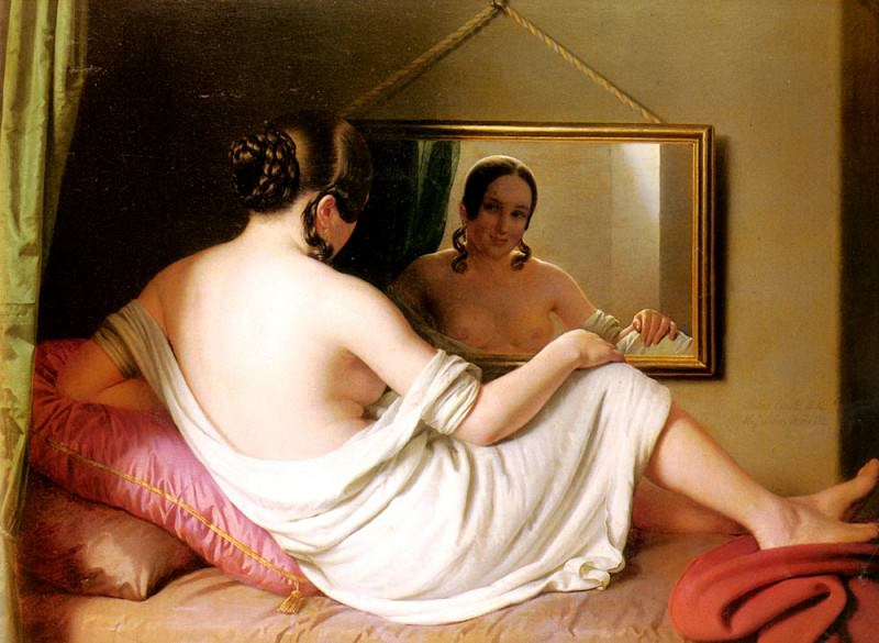 A Woman Before A Mirror. French artists