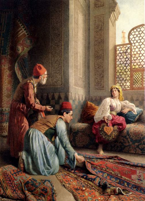 Ballesio Francesco The Carpet Sellers. French artists