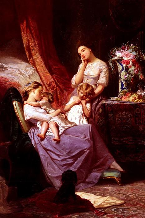 Johannot Tony Motherly Love. French artists