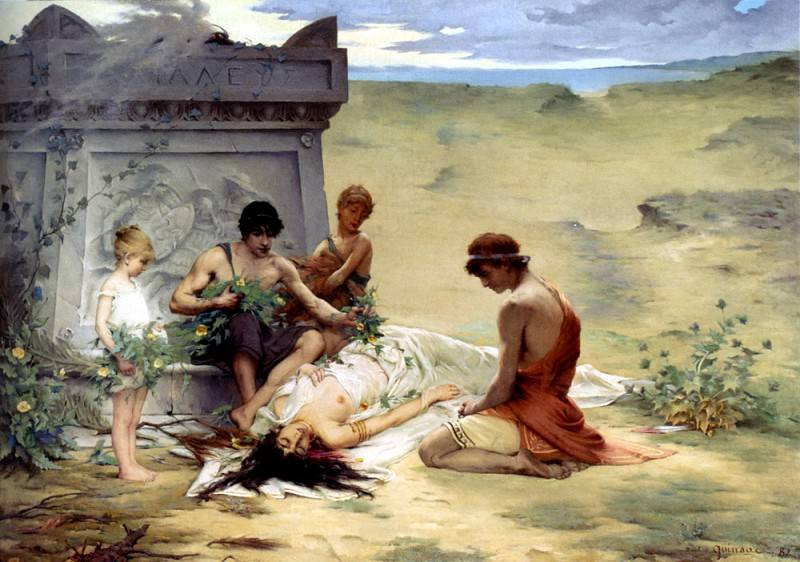 Quinsac Paul Francois Death Of Polyxena. French artists