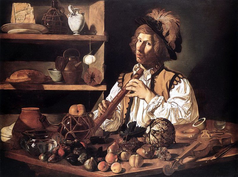 CECCO DEL CARAVAGGIO The Flute Player. French artists