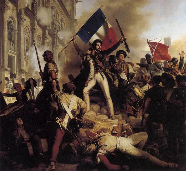 Шнетс, Жан Виктор - Сражение за ратушу. Французские художники
