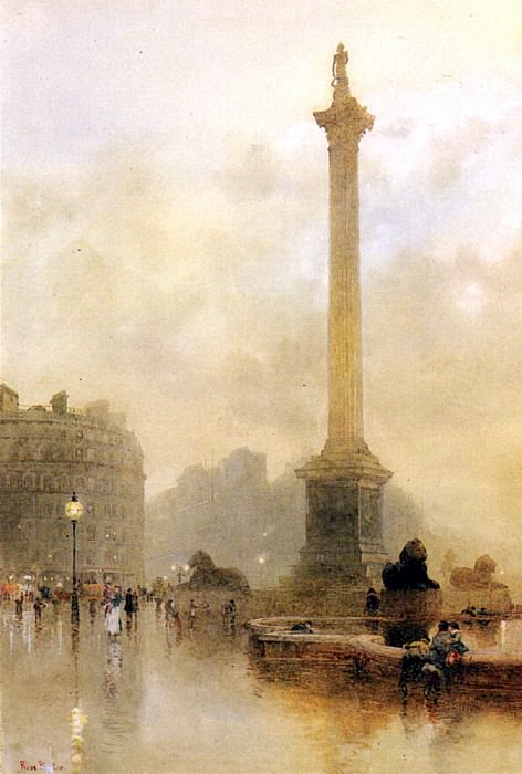 Barton Rose Maynard Nelsons Column In A Fog. French artists