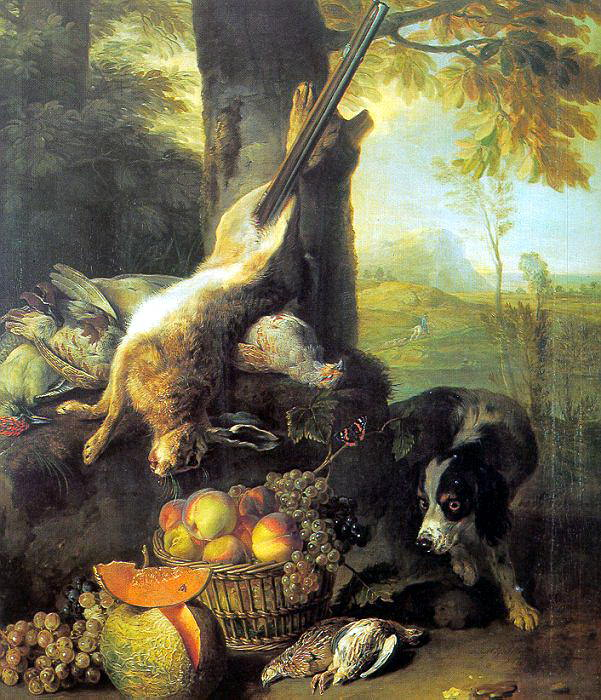 Still Life with Dead Hare and Fruit wga. French artists