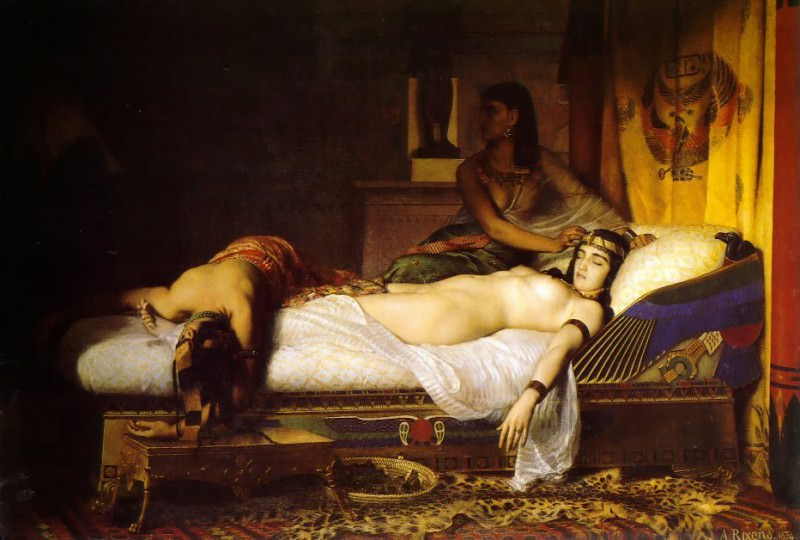 The Death of Cleopatra 1874. French artists