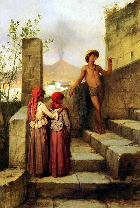 Leroux Louis Hector Au Tombeau De Virgile. French artists