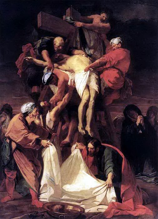 JOUVENET Jean Baptiste Descent From The Cross. French artists