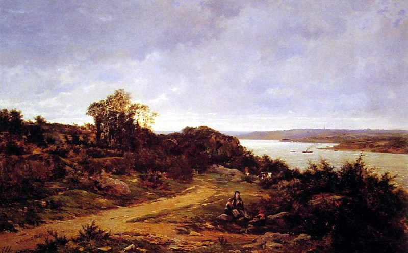 View from Plougastel Brittany. French artists