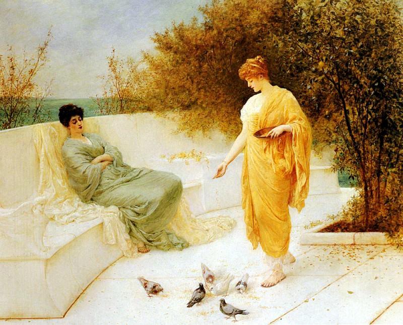 Шафер, Анри Тома - Кормление голубей. Французские художники