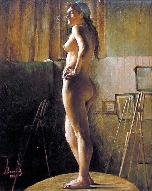 Bernard Joseph Standing Nude. French artists