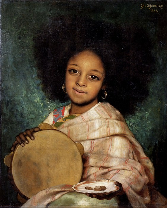 Corbineau Charles Auguste La Fille Avec Tambourin. French artists